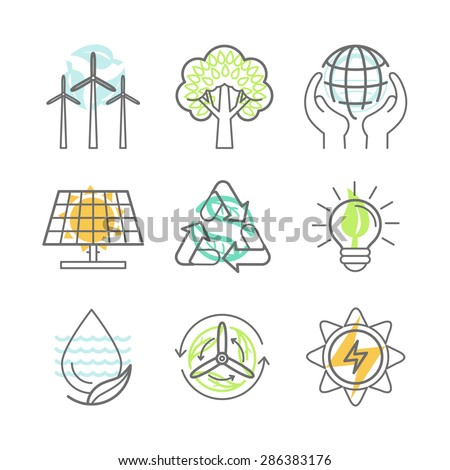 vector ecology icons
