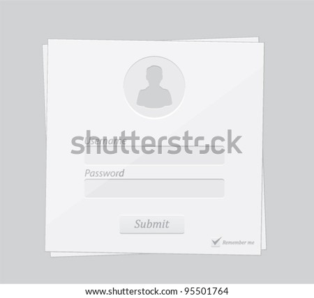 Vector editable clear white contact form
