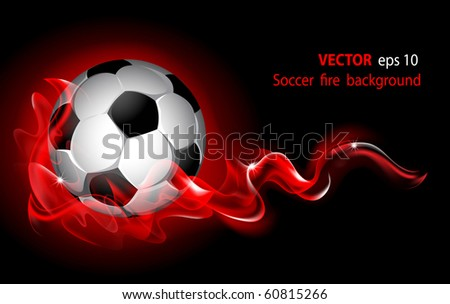 Vector editable fantastic football background with a soccer ball