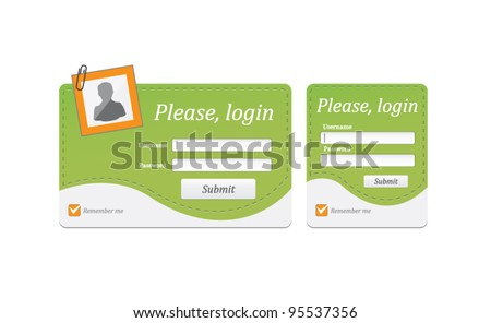 Vector editable login ,register form in two frames