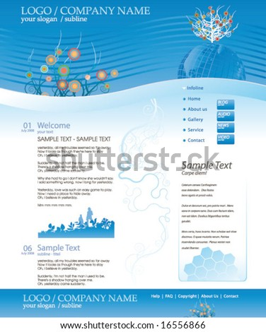 vector editable website business template Stock fotó ©