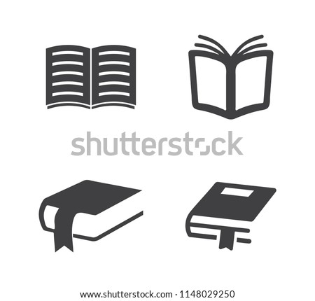 vector education book illustration symbol - learning book icon. school library