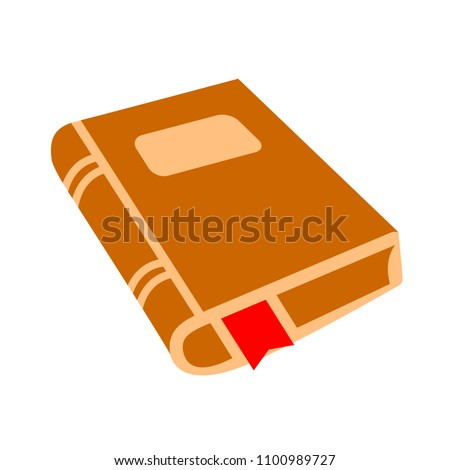 vector education book symbol isolated, literature illustration - bookstore sign