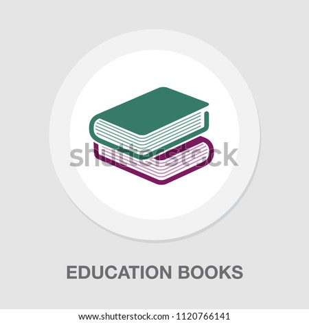 vector education books isolated, learning icon