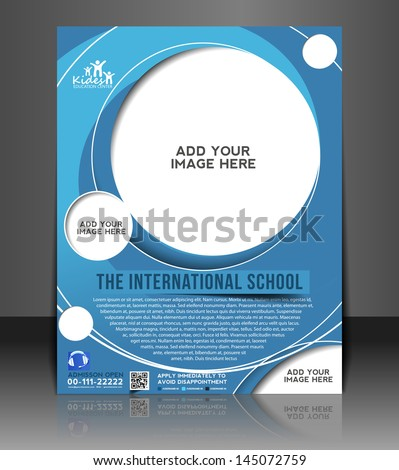 Vector Education Ceneter brochure flyer magazine cover & poster template