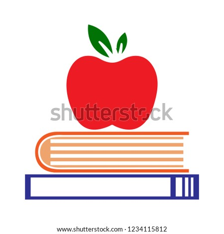 vector education wisdom flat icon - healthy reading illustration sign . university bookstore sign symbol