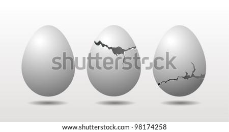 Vector egg concept - stock vector