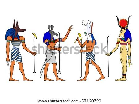 vector egyptian gods and goddess