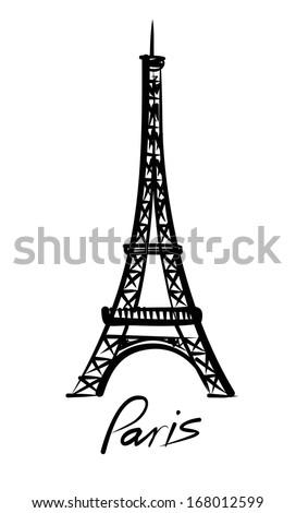 vector Eiffel tower