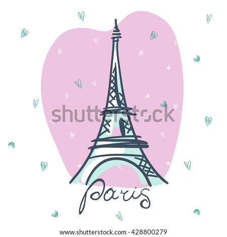 Vector Eiffel Tower. Paris