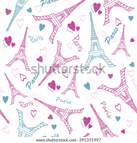 vector eiffel tower paris love