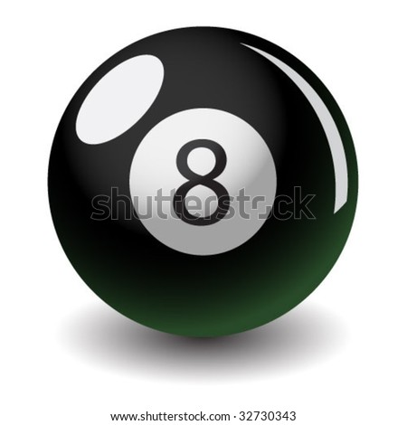 vector eight ball glossy