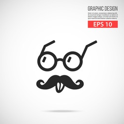 Vector Einstein style icon. Black icon. Modern flat design vector illustration, quality concept for web banners, web and mobile applications, infographics. Vector icon isolated on gradient background