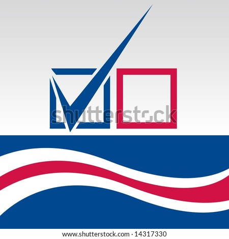 Vector Election Day vote graphic.