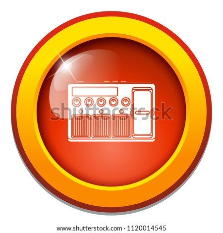 Stock Photo vector electric amplifier sign. guitar amp illustration, sound music equalizer symbol