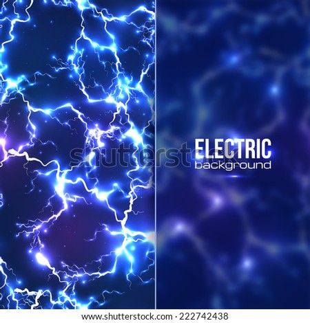 vector electric background with