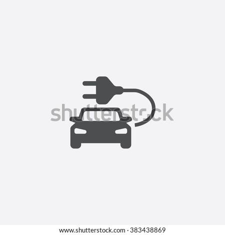 Vector electric car Icon