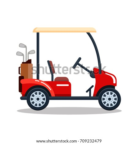 Car Cart Cartoon Club Golf Sport Vehicle Icon Golf Cart Png Stunning Free Transparent Png Clipart Images Free Download