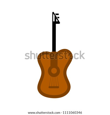 vector electric guitar illustration isolated. sound music icon