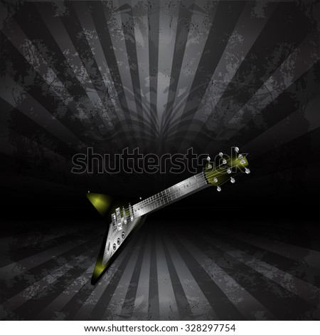 vector electric guitar in