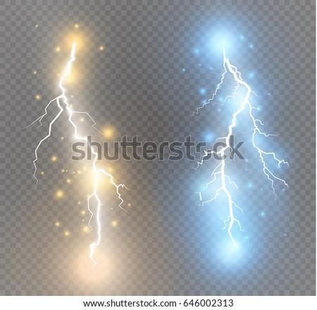 vector electric lightning bolt
