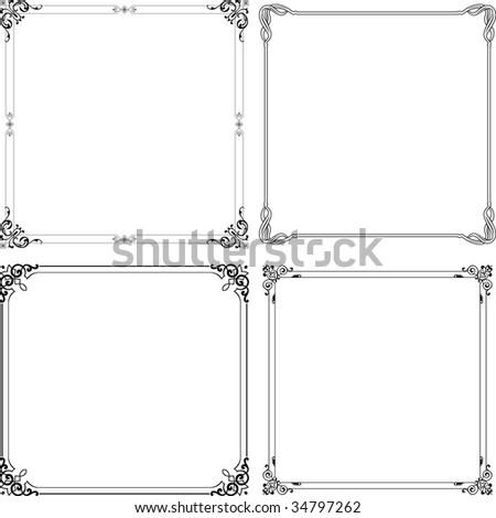 Vector elegance frames