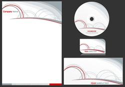 Vector elegant business stationary set