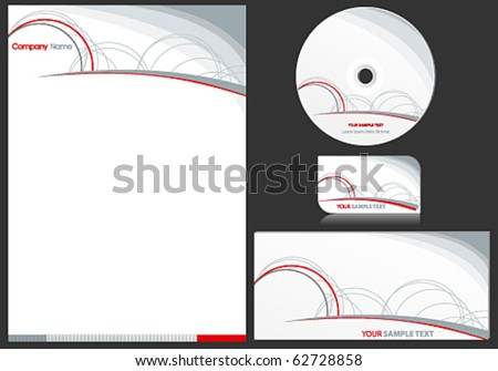 Vector elegant business stationary set