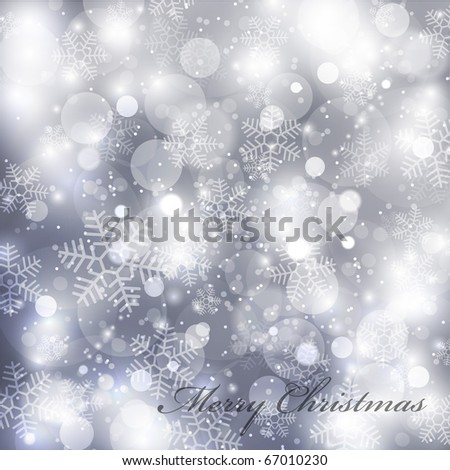 Vector elegant christmas background with beautiful snowflakes EPS10