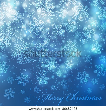 Vector elegant christmas background with beautiful snowflakes (eps10)