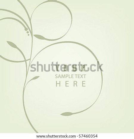 Vector elegant floral abstract business background