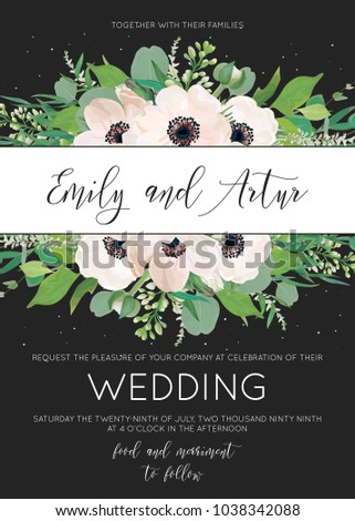vector elegant floral wedding