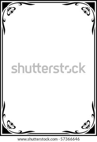 Vector elegant frame on white background
