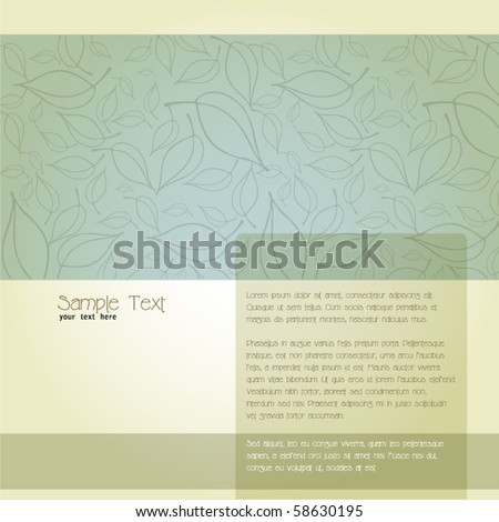 vector elegant fresh background