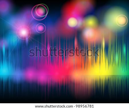 Vector elegant glittering music background