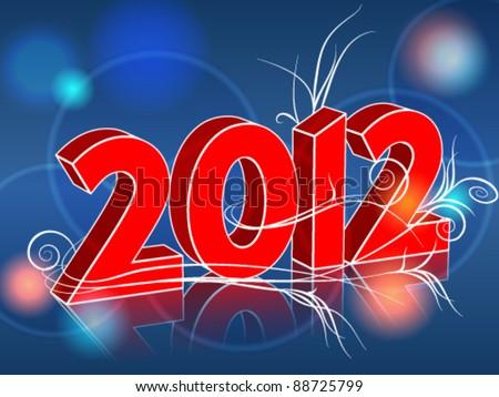 Vector elegant Happy New Year's illustration