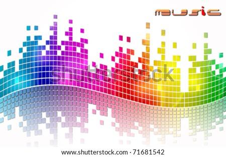 Vector elegant music background