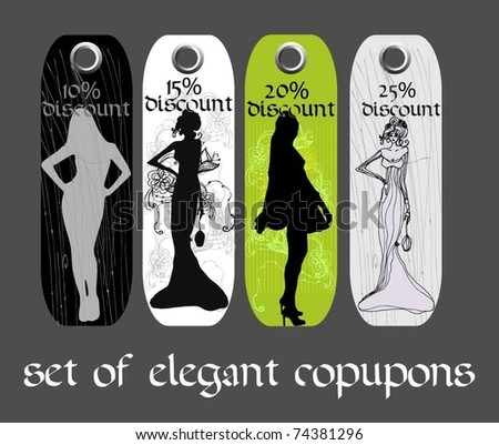 vector elegant set of coupons