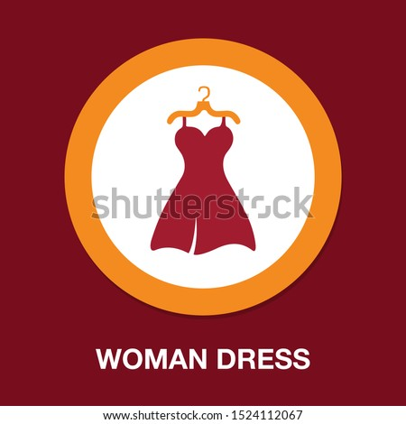 vector elegant woman dress illustration, female clothing - beautiful lady style isolated