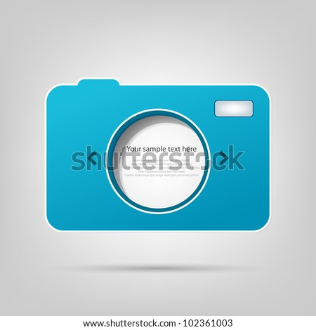 vector element for web design. photo camera