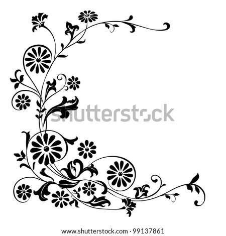Vector elements for design flowers and ornaments floral - stock vector