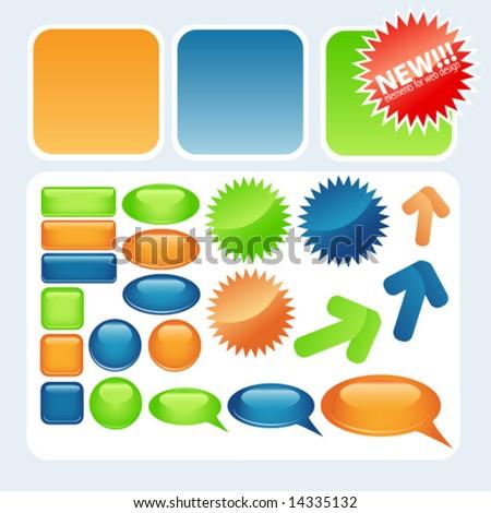Vector elements for web design