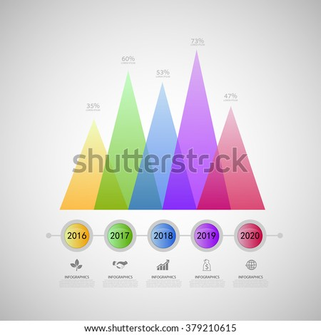 Vector Elements Of Infographic Line Graph Template - 379210615 ...