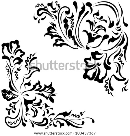 Vector elements pattern for ornaments floral