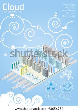 vector elements set of Cloud Computing info graphics