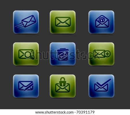 vector email icon set, includes four color versions for your web colour design used.