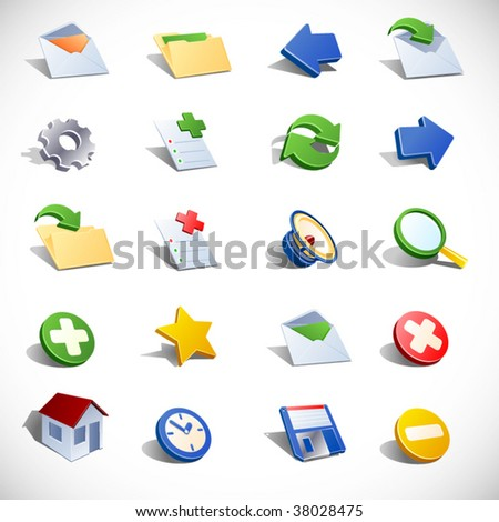 Vector email icons.