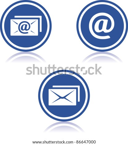 Vector email icons