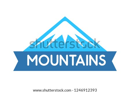 vector emblem of mountains in