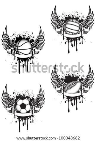 vector emblem volleyball